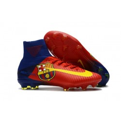 Nike Mercurial Superfly 5 FG ACC Chaussures de Foot Barcelona Rouge Jaune