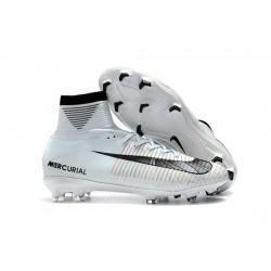 Nike Ronaldo Mercurial Superfly 5 CR7 FG ACC Chaussures de Foot Blanc Noir