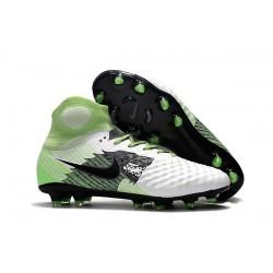 Nike Chaussure Football Nouveaux Magista Obra II FG Blanc Vert Noir