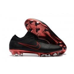 Nike Mercurial Vapor Flyknit Ultra FG Chaussures - Noir Rouge