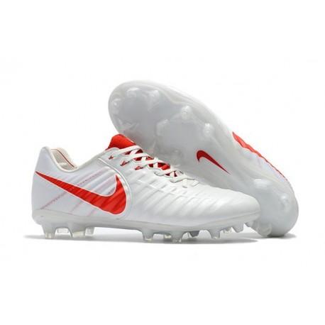 Chaussure Football Nouvelles Nike Tiempo Legend VII FG - Blanc Rouge
