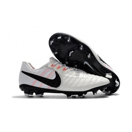 Chaussure Football Nouvelles Nike Tiempo Legend VII FG - Blanc Noir