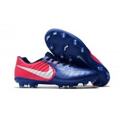 Nike Crampons de Foot Homme Tiempo Legend 7 FG - Bleu Rose