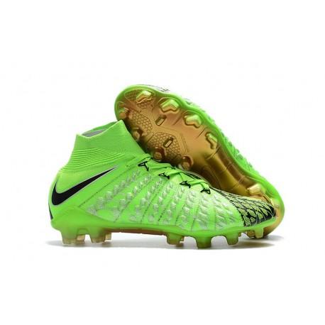 Nike Chaussures Hypervenom Phantom 3 Dynamic Fit FG - Vert Noir