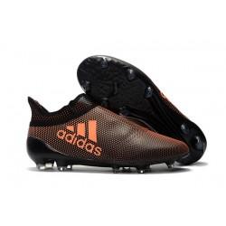 adidas Crampons de Football X17+ Purespeed FG - Marron