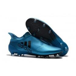 adidas Crampons de Football X17+ Purespeed FG - Bleu