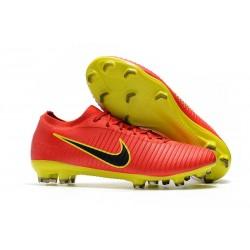 Nike Mercurial Vapor Flyknit Ultra FG Chaussures - Rouge Jaune