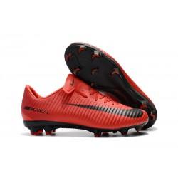 Nike Mercurial Vapor 11 FG Chaussures de Football - Rouge Noir