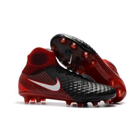 Nike Chaussure Football Nouveaux Magista Obra II FG Noir Rouge