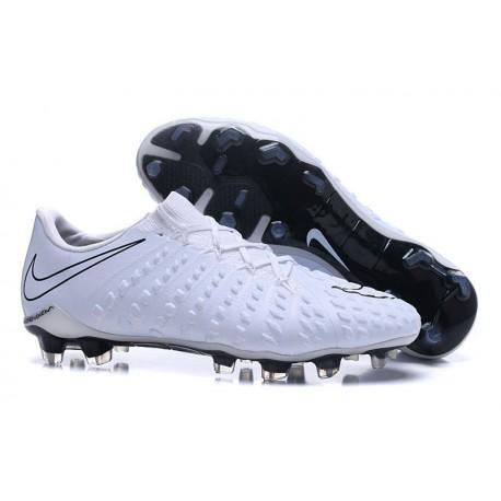 Crampons Football Nouvel Nike Hypervenom Phantom III FG Blanc
