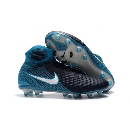 Crampons de Foot Nike Magista Obra 2 FG ACC Noir Bleu