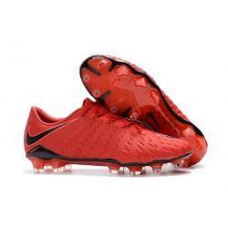 Crampons Football Nouvel Nike Hypervenom Phantom III FG Rouge Noir