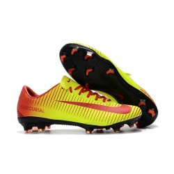 Nike Mercurial Vapor 11 FG Chaussures de Football - Jaune Rouge
