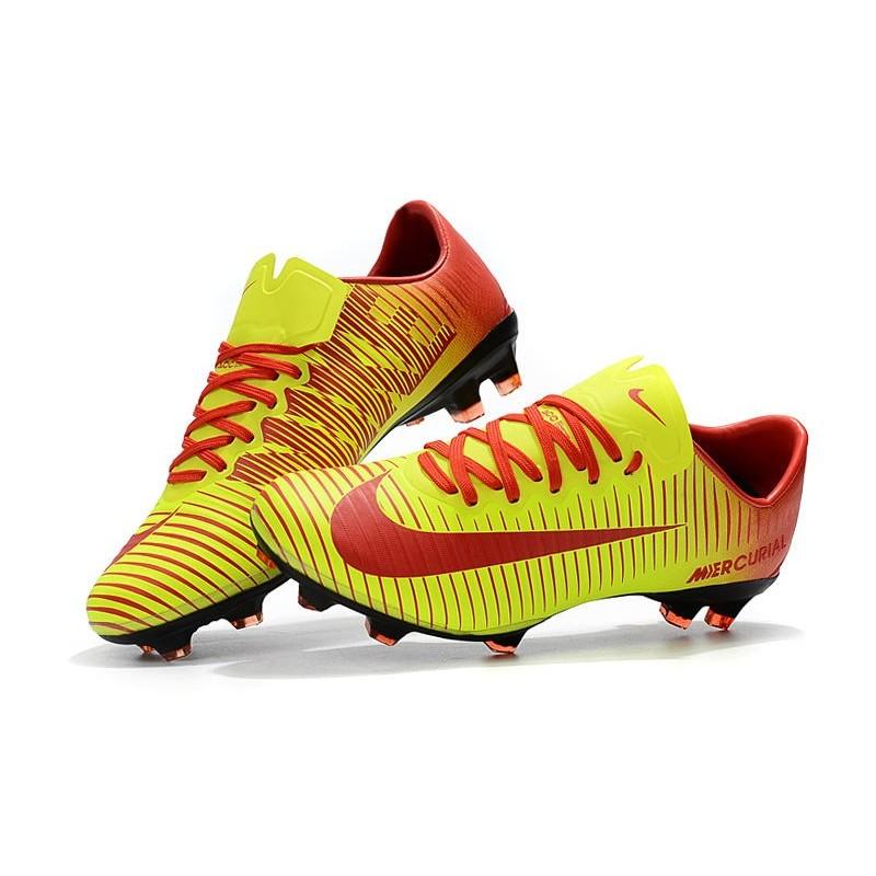 Nike Vapor De Football Chaussures Rouge Mercurial Fg Jaune 11 gvYbf6y7