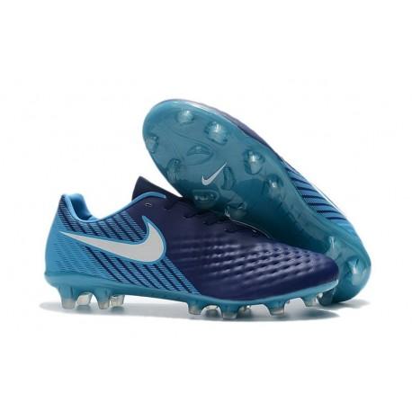 Nike Magista Opus II FG Crampon de Foot - Bleu Blanc