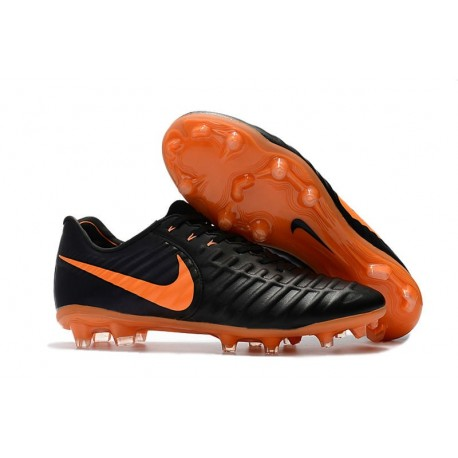 Nike Crampons de Foot Homme Tiempo Legend 7 FG - Noir Orange