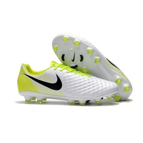 Chaussures Football Nike Magista Opus 2 FG ACC - Blanc Jaune
