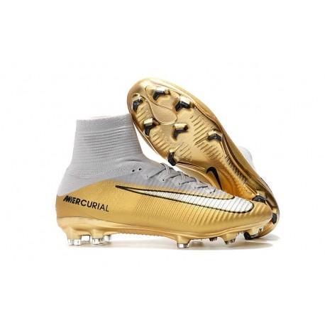 Crampons Football Nouveaux Nike Mercurial Superfly V FG -CR7 Quinto Triunfo