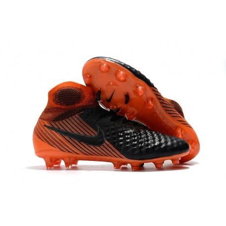 Crampons de Foot Nike Magista Obra 2 FG ACC Noir Orange