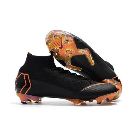 Chaussures football Nike Mercurial Superfly 360 VI Elite DF FG Noir Orange