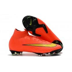 Nike Crampons Mercurial Superfly 6 Elite DF Orange Jaune