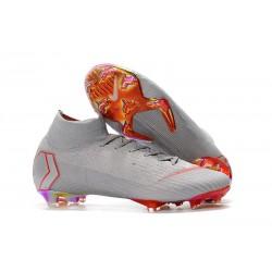 Nike Crampons Mercurial Superfly 6 Elite DF Gris Orange