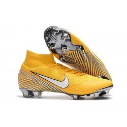 Nike Crampons Mercurial Superfly 6 Elite DF Jaune Blanc