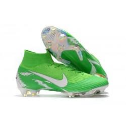 Nike Crampons Mercurial Superfly 6 Elite DF Vert Argent
