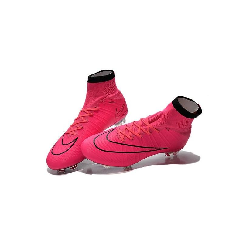 best sneakers 2eab3 71238 Nike Crampon Moulé Nouveaux Mercurial Superfly Iv FG Rose No