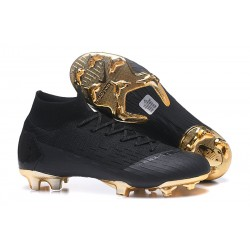 Nike Crampons Mercurial Superfly 6 Elite FG Noir Or