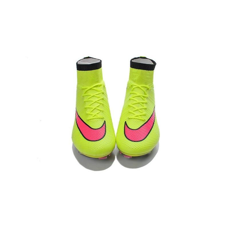 buy popular 82eb5 53c60 Crampons de Football Nike Mercurial Superfly FG ACC Jaune Rose Zoom.  Précédent. Suivant
