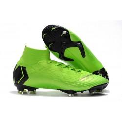Nike Mercurial Superfly VI Elite FG Nouveau Chaussure Vert Noir