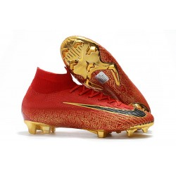 Ronaldo Nike Mercurial Superfly VI Elite FG CR7 Rouge Or