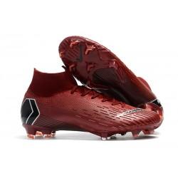 Nike Mercurial Superfly VI Elite FG Nouveau Chaussure Rouge Noir