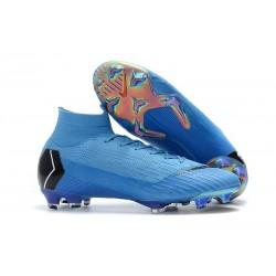 Nike Nouvelles Crampon Mercurial Superfly 360 Elite FG Bleu Noir