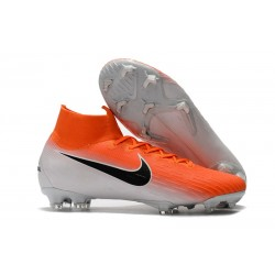 Nike Nouvelles Crampon Mercurial Superfly 360 Elite FG Orange Noir Blanc