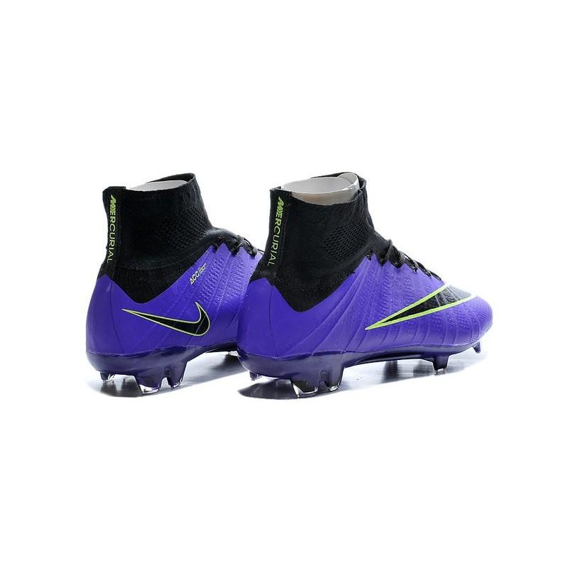 super popular 3c52e d9a6a Nike Crampon Moulé Nouveaux Mercurial Superfly Iv FG Violet