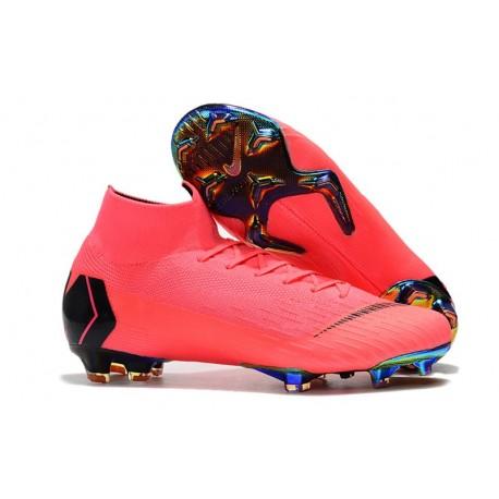 Chaussure Football Nike Mercurial Superfly 6 Elite FG Rose Noir