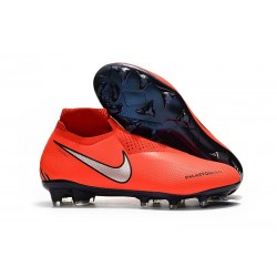 Chaussures Nike Phantom Vision Elite Dynamic Fit FG Rouge Argent