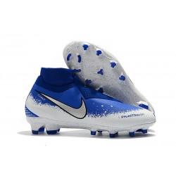 Nike Phantom VSN Elite DF FG Crampons Bleu Blanc Argent