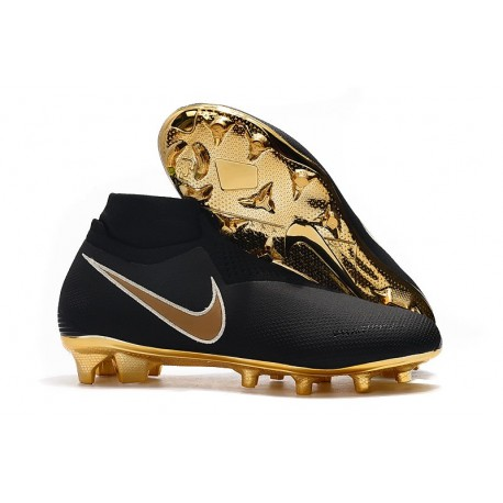 Nike Phantom VSN Elite DF FG Crampons Noir Or
