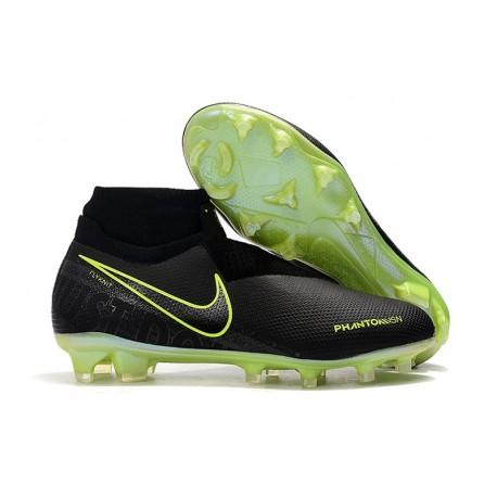 Nike Chaussure Phantom VSN Elite DF FG - Noir Volt