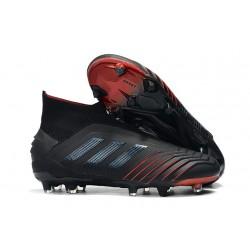 Chaussures de Foot adidas Predator 19+ FG Noir Rouge