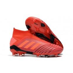 Chaussures de Foot adidas Predator 19+ FG Rouge