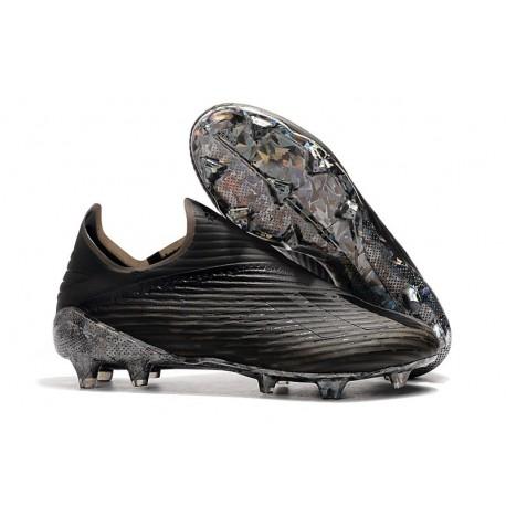 Crampons de Foot Nouvelles adidas X 19+ FG - Noir