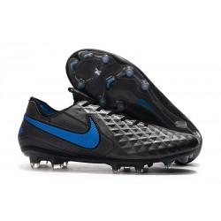 Chaussures Nouvelles Nike Tiempo Legend 8 Elite FG - Noir Bleu