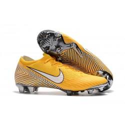 Chaussures Nike Mercurial Vapor XII Elite FG -Chaussures Neymar Nike Mercurial Vapor XII Elite FG - Jaune Blanc