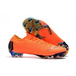 Chaussures Nike Mercurial Vapor XII Elite FG - Orange Noir