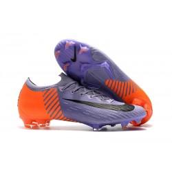 Chaussures Nike Mercurial Vapor XII Elite FG - Violet Orange Noir