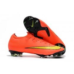 Chaussures Nike Mercurial Vapor XII Elite FG - Orange Jaune